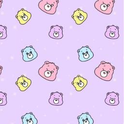 carebear kawaii purpleaesthetic pastelaesthetic yellowblueandpink carebearsaesthetic sparkles wallpaper backround cute adorable chibi pastelpurple bears cutie