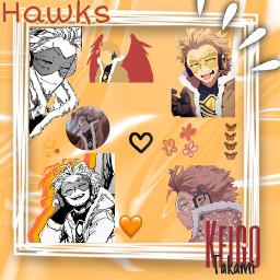 hawks keigotakami keigo takamikeigo takami bnha mha myheroacademia bokunoheroacademia bokunohero orange freetoedit