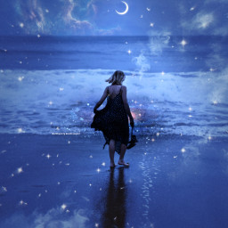 makeawesome heypicsart papicks picsart blue purple galaxy space stars star dream dreamy magic magical aesthetic aestheticedit aesthetics tumblr girls girl woman moon galaxyedit blueaesthetic lost freetoedit