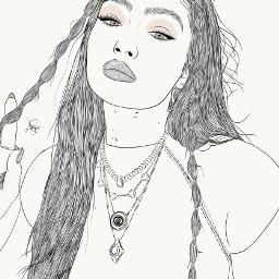 drawing outline sketch digitalart art outlineart digitaldrawing drawingart love creativity creative portrait girl gigihadid gigi hadid freetoedit