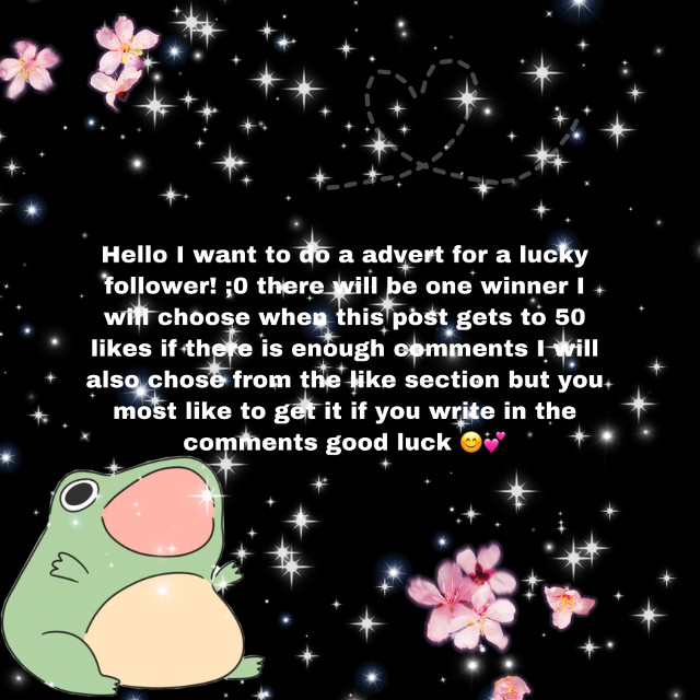 So you could win not my choice by the way i put it all on a spinner and thag will be the winnner :D so i want you all to comment somthing and you most liky to win if you comment btw! Good luck ;) 😊💕         #advertising #add #advert #frog #advertforyou #cute #kawaii #aestethic #edit #gacha #gachaclub #gachalife #kawaiifrog #aestheticfrog #flowers #pink #giltter #thankyouall #thankyouallsomuch #iloveyouall #ilovsmyfollowers