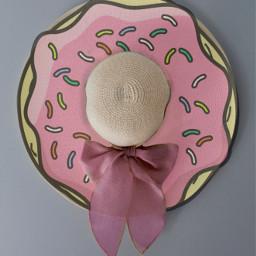 hat beach summer donut bow challenge edit freetoedit
