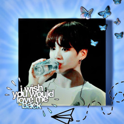 jungkook bts armybts jungkookiebts jungkookiedit blue butterfly freetoedit