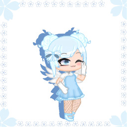 1577 blue flower cherylblossom sakura pretty edit angel wings bow neon cute whydoihavetoaddahashtag ihatehashtagsstopmakeingmedothem fishnets white gray shading helpme isuckatediting simple lol e f donfrickenstealfromme