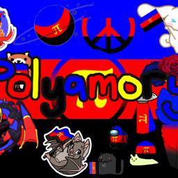 poly polyamorous pride pridemonth freetoedit