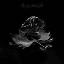 aloneinthedark shadow black alone text freetoedit