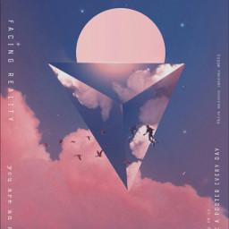 poster pink cloud sky astronaut be-creative freetoedit be