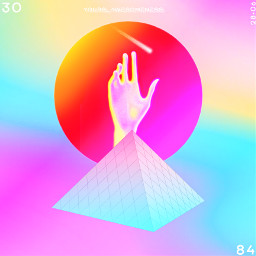 freetoedit yours_awesomeness hand fiction surreal scifi space triangle pyramids circle graphicart myedit surrealism graphicdesign shapes geometry madewithpicsart