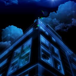 freetoedit negativeeffect adjusttool editedstepbystep curvestool blue building madewithpicsart eccolorpaletteclassicblue colorpaletteclassicblue