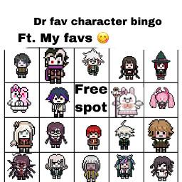 freetoedit danganronpa bingo dr tokosimp