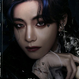 taehyung kimtaehyung bts kpop wallpaper lockscreen background dark fantasy goth manipulation manipulationedit criminal
