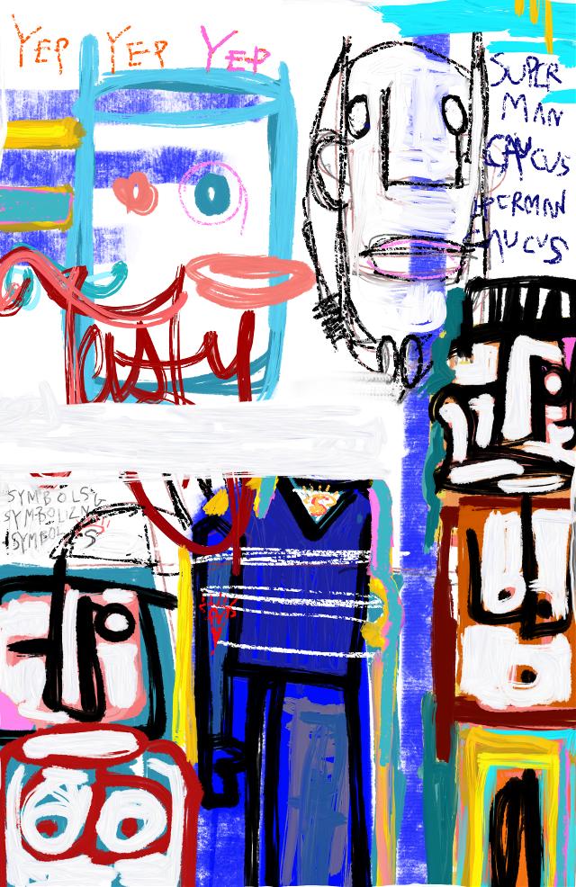 """Hero Worship with Balloons"" #art #artist #neoexpressionism #sonnythesaint #sonnyleel"