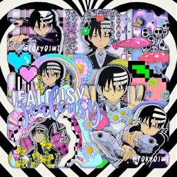 anime manga comic freetoedit madebyme tokyoswt icedbils swag aesthetic indiekid grunge overlay premade png deaththekid souleater deaththekidedit souleateredit deaththekidsouleater netflix
