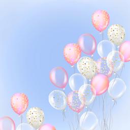 tarjeta fiesta party cumpleaños invitación globos balls postal freetoedit colorpaint