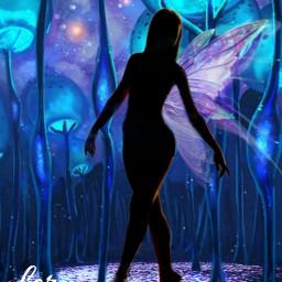 bailarina hada fairy fantasyart freetoedit ircdancersilhouette dancersilhouette