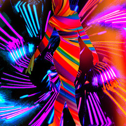 myoriginalwork originalart conceptart womanportrait colorful avantgarde abstract neonsilhouette ircdancersilhouette dancersilhouette