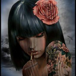 art artdigital mujer womanportrait woman chica girl @chuliluna19 freetoedit