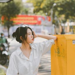 interesting street vietnam yellow vietnamgirl vietnamese