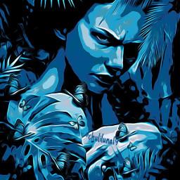 art artdigital womanportrait woman girl mujer azulaesthetic azul chica @chuliluna19 freetoedit