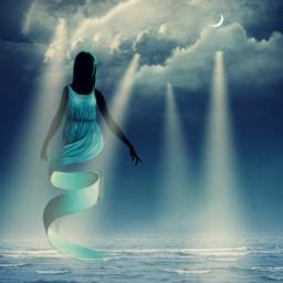 silhouette blueaesthetic seabackground moonbackground aestheticwallpaper bluebackground darkbackground freetoedit ircdancersilhouette dancersilhouette