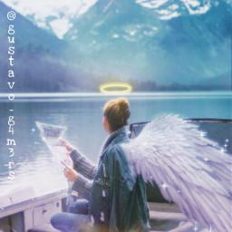 anjel wings blureffect mist freetoedit