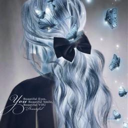 freetoedit girl blue