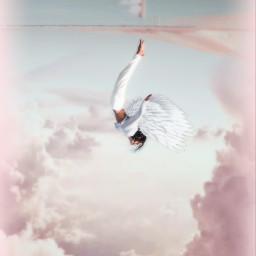 freetoedit sky girl wings angel fxeffects maskeffect picsart madewithpicsart