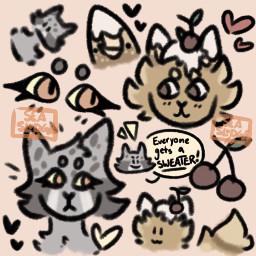 originalart digitalart notmyocs doodlepage doodle feline
