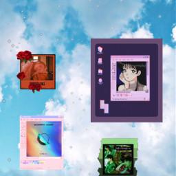 aesthetic background wallpaper music windows sparkle sky kpop freetoedit