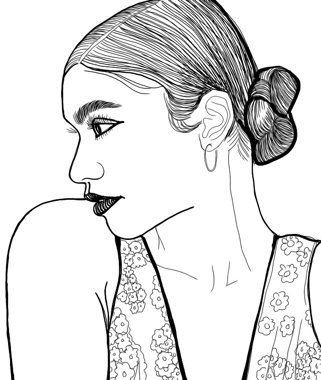 The lovely Zendaya 🖤🌿 #stepbystep #drawing #tutorial This direction is new to me. I am practicing with the #replay that @dtsdk created and demonstrated that nothing is impossible. I am sharing this with you because it's too good to keep quiet. 🖤 #zendaya #zendayacoleman #profile #sketch #drawing #outline #outlinegirl  #lineart #illustrationoftheday #freetoedit less steps.