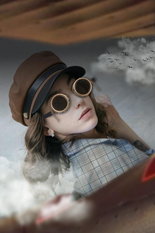WANDERLUST 🛩️🌬️💨 #comeflywithme #letstraveltogether #trendygirl #airplane #flyaway #sky #photomanipulation #myedit #flyinghigh #skiesthelimit #freedom #air #wanderlust #joyofflying #goggles #replay #freetoedit