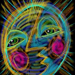 sunandmoon faces abstractfaces