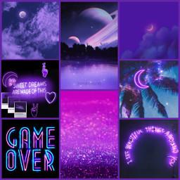 freetoedit purpleaesthetic neon neonpurple purple moon nighttime