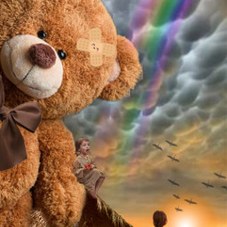 fantasy fantasia mundomagico magicworld girls meninas cabana campo arcoiris raimbow sun sol sunshine ursodepelucia freetoedit
