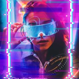desafio challenge neon lights quadroneon freetoedit srcglitchneonframe glitchneonframe
