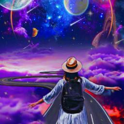 myoldedit sara_asri myedit myownedit freetoedit picsart sara_asri road roads girls girl moon star stars cloud clouds hat hats dream dreams saturn space earth planets planets neptune uranus jupiter mars venus mercury
