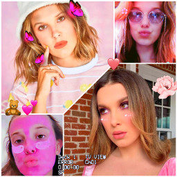milliebobbybrown strangerthings beautifulgirl freetoedit pink rose 💞  @millieebobbybrwn ccpinkaesthetic2021 pinkaesthetic2021