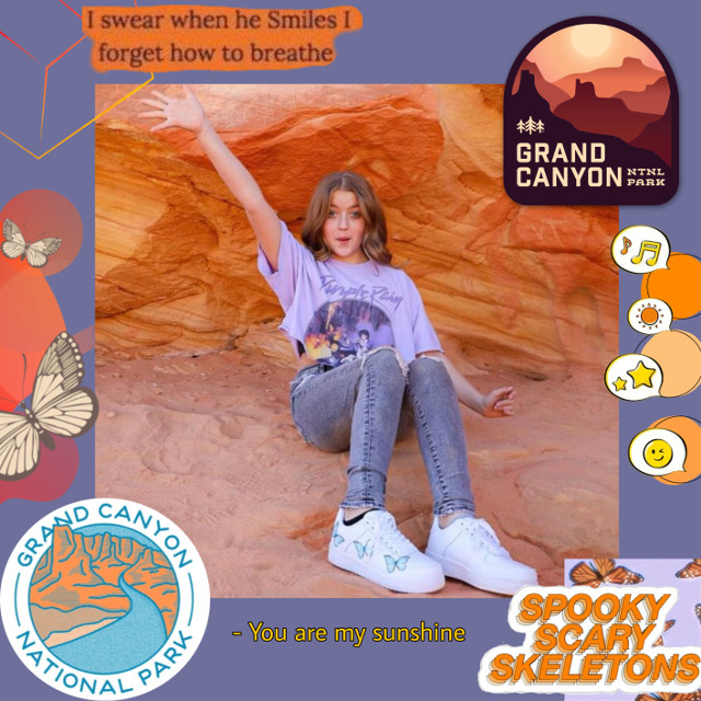 #purple #orange #yellow #clairerocksmithedit #clairerocksmith #clayden #love #grandcanyonnationalpark #grandcanyon #flower #butterfly #lusynda9
