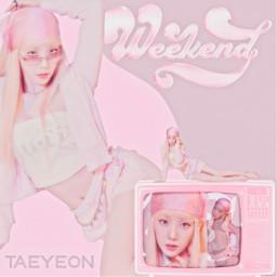 taeyeon taeyeonweekend weekend girlgeneration taeyeonsnsd snsd kpop kpopedit kpopdesign
