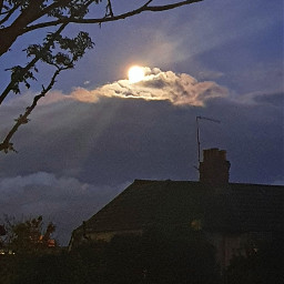 sky cloud moon nightlights pcskyandclouds skyandclouds