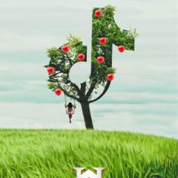 freetoedit unsplash tree tiktoklogo tiktok aplee swing woman mistery surreal madewithpicsart