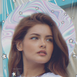 freetoedit replay girl holographic background picsarteffects