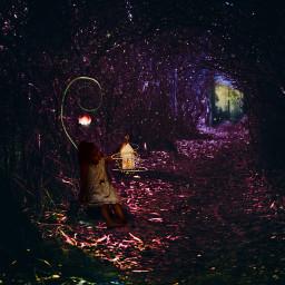 fairytime magic woods latern lightingaesthetic light challenge littlegirldreams heypicsart pirasisproyo freetoedit srcinacircle inacircle