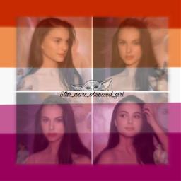 freetoedit padmeamidala padme natalieportman starwars lesbian gaygirl flag profilepic tiktok