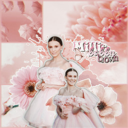 freetoedit collage complexedit milliebobbybrown pink peach edit ccpinkaesthetic2021 pinkaesthetic2021