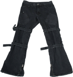 clothes style fashion aesthetic pants jeans baggy black freetoedit