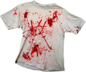 clothes style fashion aesthetic blood bloody horror white red shirt tshirt freetoedit