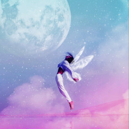 freetoedit surreal edited gradientcolors angel surrealism photomanipulation flying filter madewithpicsart