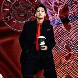 freetoedit remix replay replayedit bts bangtanboys btsedit kimtaehyung taehyung v btsv lv louisvuitton red