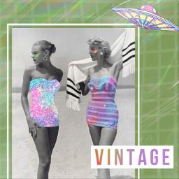 freetoedit vintage vintagedripart vintageaesthetic aesthetic beach interesting california travel summer girl colorful alien